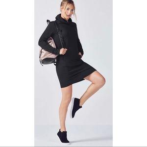 Fabletics Liora Dress Front Pockets Cowl Neck